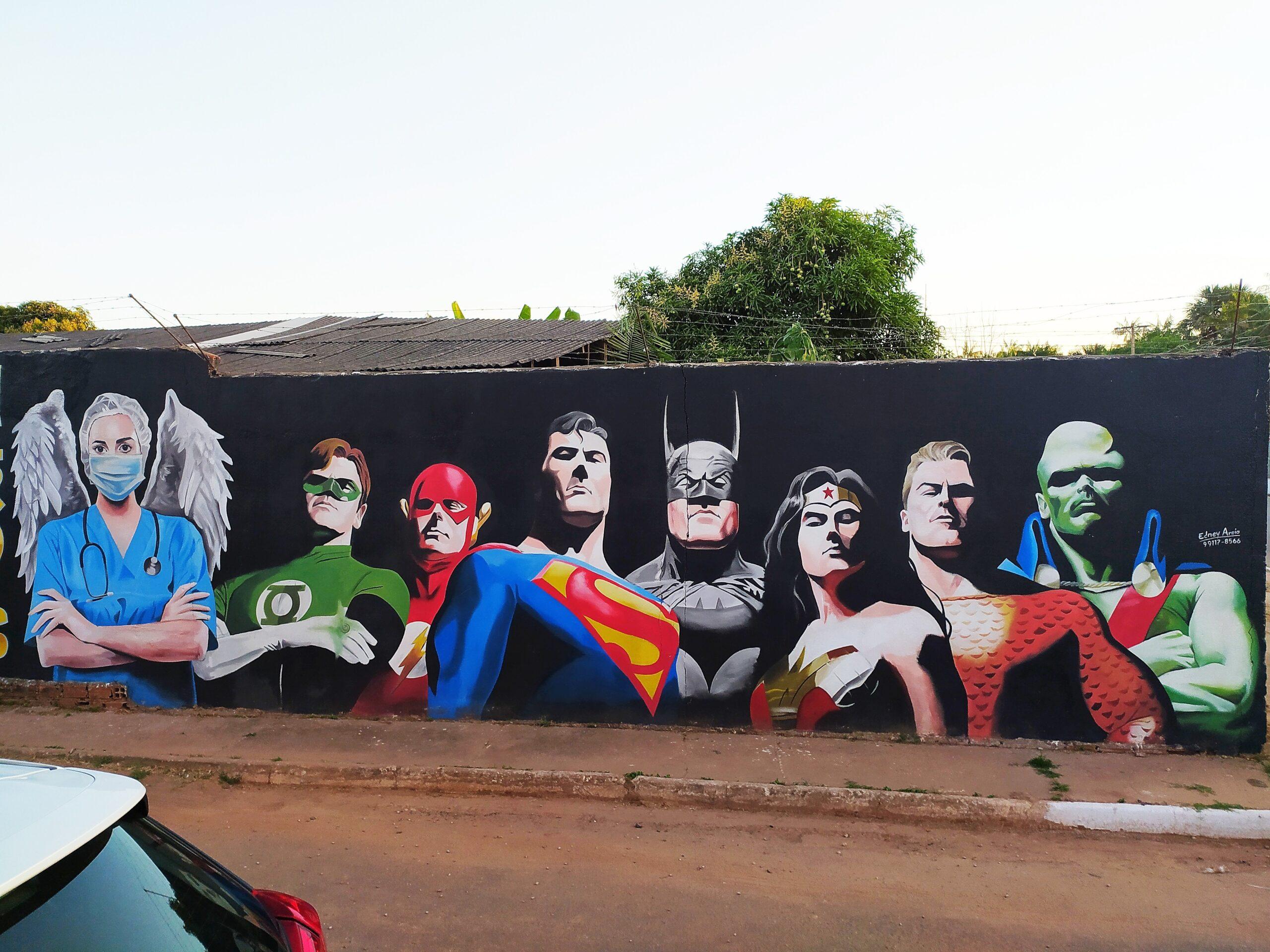 mural liga da justiça 3
