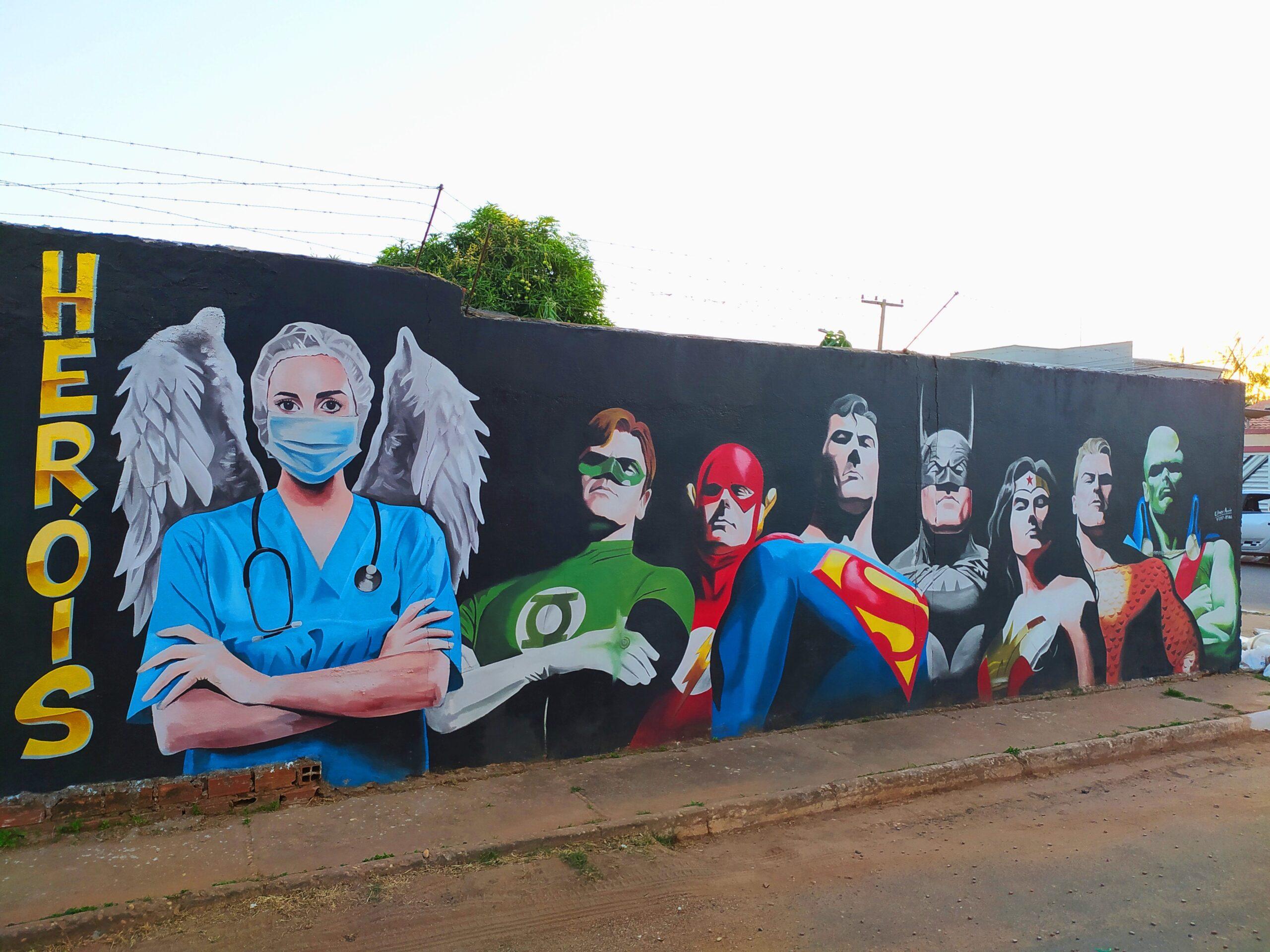 mural liga da justiça